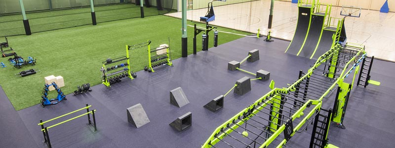 Westwood Fitness Functional Traininig Equipment with Turf and Basketball Courts